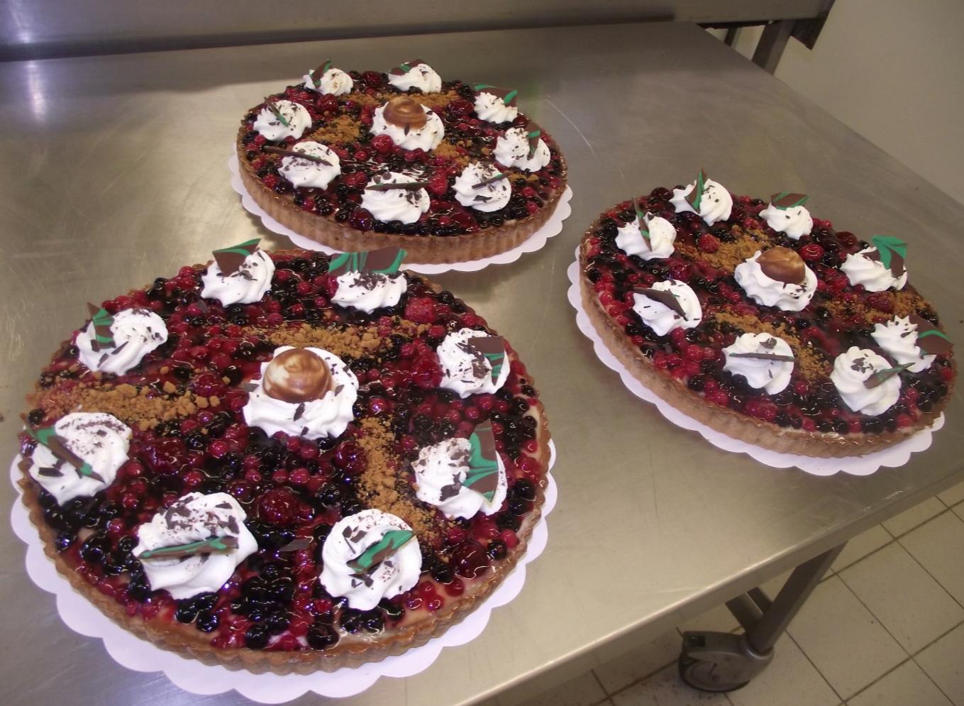 3 tartes aux fruits des bois 10-12 parts