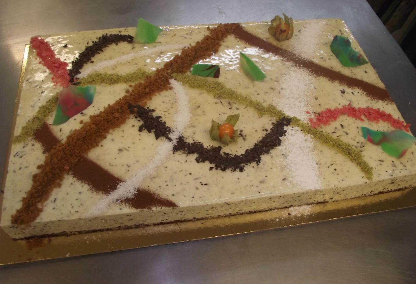 bavarois menthe-chocolat 20-24 parts..
