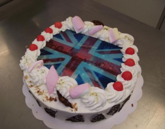 Candycake 10-12 parts avec photo drapeau Anglais