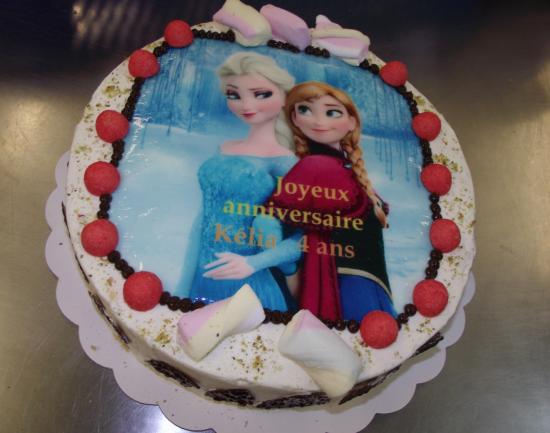 Candycake 10-12 parts avec photo reine des neiges
