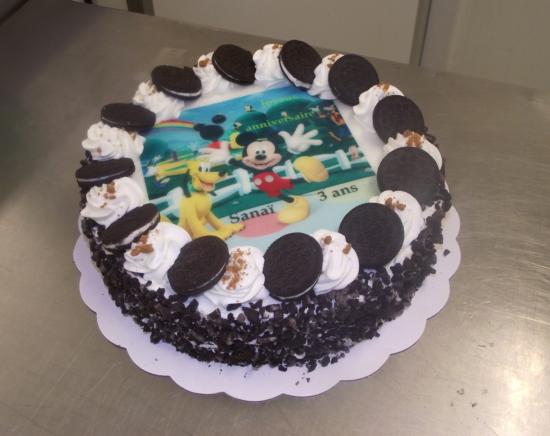 choco chanel 10-12 parts avec photo de Mickey