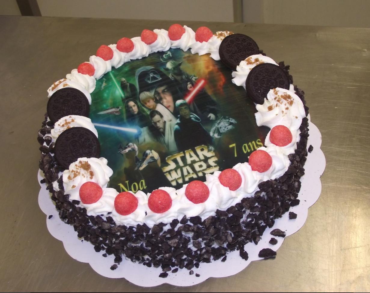 Choco chanel 10-12 parts avec photo Star Wars