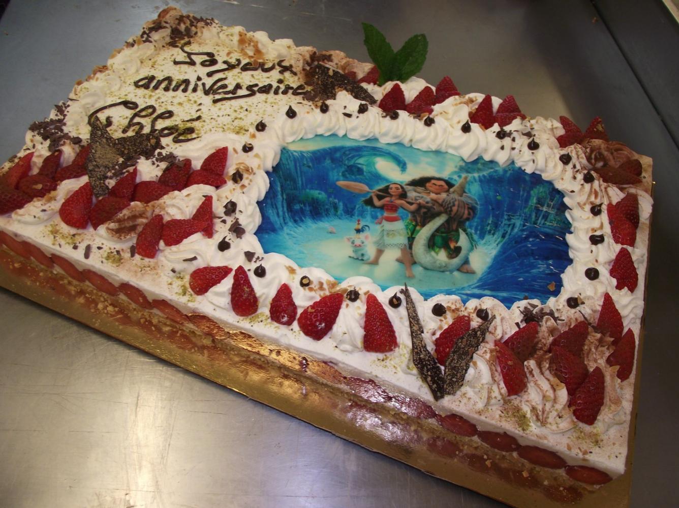 photos alimentaires sur gâteaux