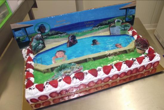 fraisier 20-24 parts avec thème piscine