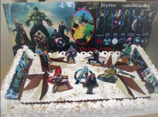 l'Ecrin de soleil 20-24 parts avec le thème Avengers
