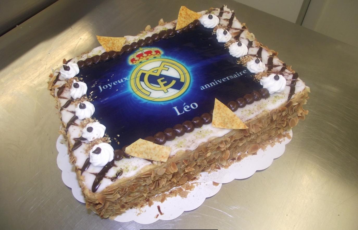 mille feuille classique 10-12 parts avec photo Réal Madrid