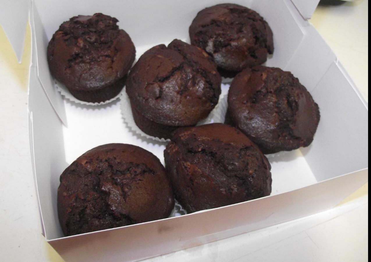 Muffin chocolat noir intense