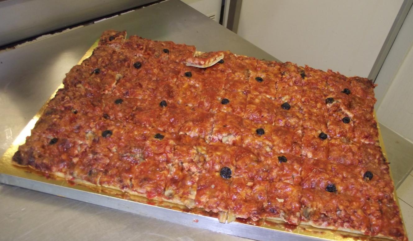 plaque de pizza jambon-champignon -fromage