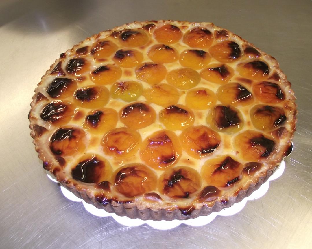 tarte à l'abricot 10-12 parts