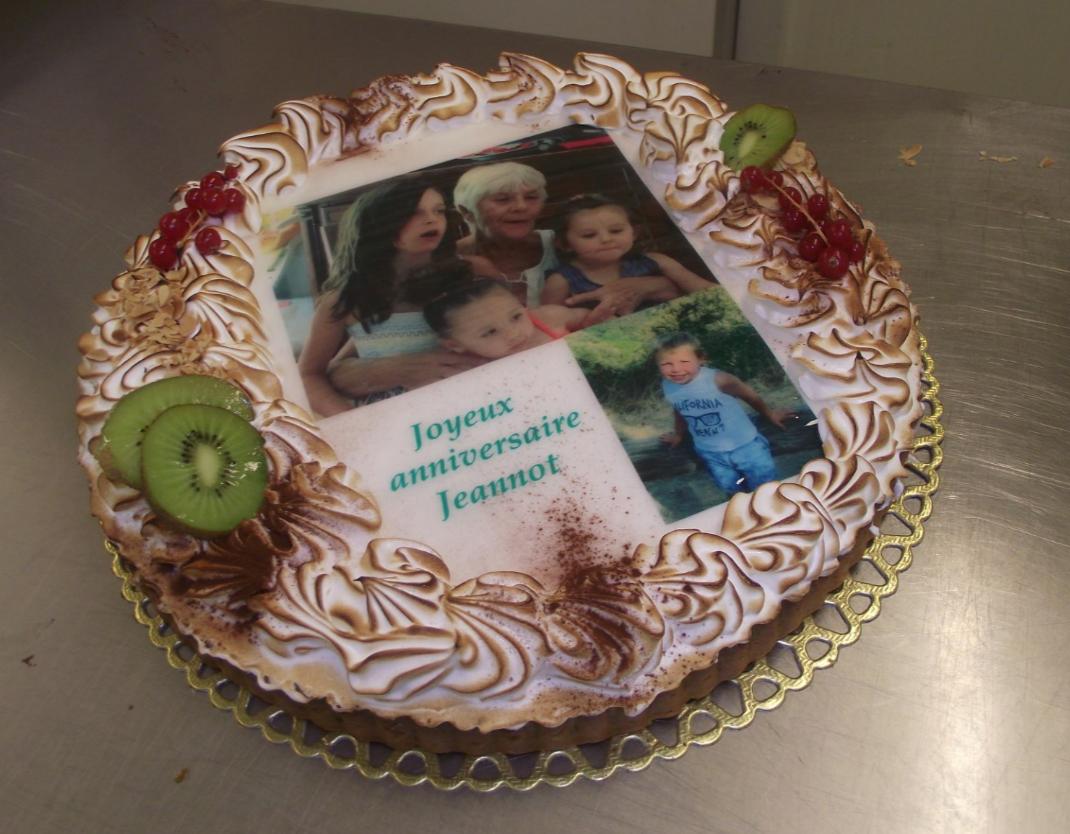 tarte au citron meringuée 10-12 parts avec photo famille