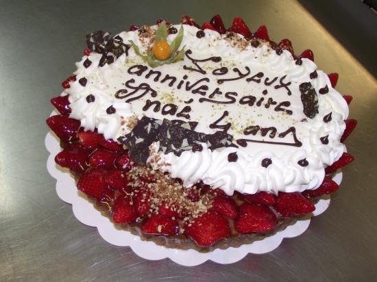 tarte aux fraises 10-12 parts