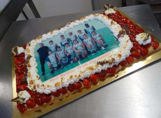 tarte aux fraises 20-24 parts avec photo