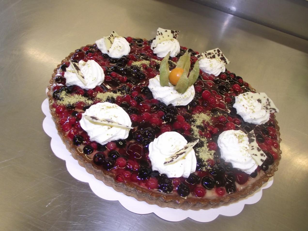 tarte aux fruits rouges 10-12 parts