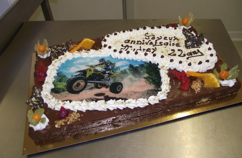tarte choco-poire 20-24 parts avec photo de Quad