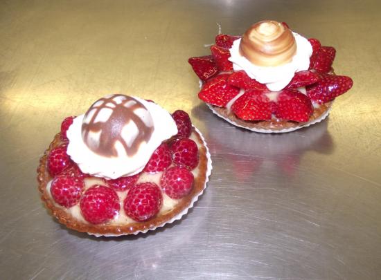 tartelette fraise et framboise