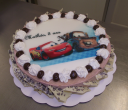 Bavarois fraise 10 12 parts avec photo de cars