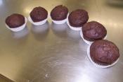 Muffins au chocolat noir intense
