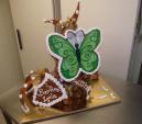 Piece montee choux et nougatine en cone avec papillon